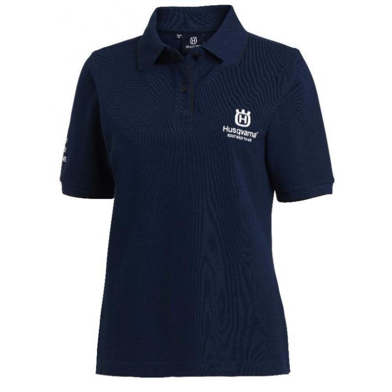 Womens XS Husqvarna Cotton Polo Shirt