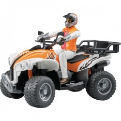 Bruder Quad with Driver Toy