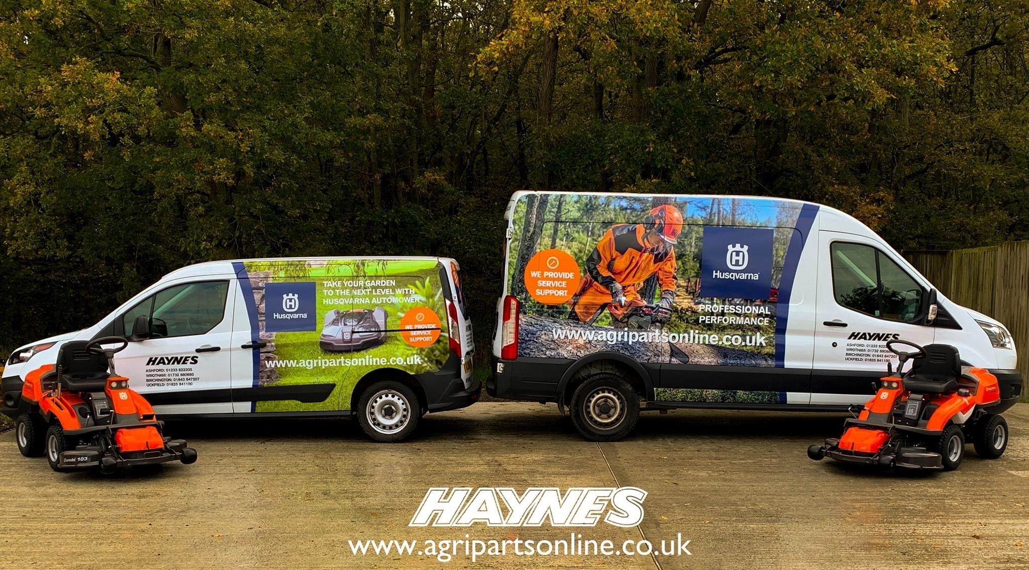 Agri Parts delivery vans